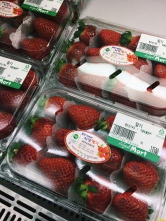 About $9.50 for 12 strawberries
